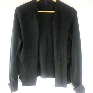 Charcoal cashmere cardigan